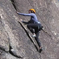 Climber at Peanut Gallery Donner Summit